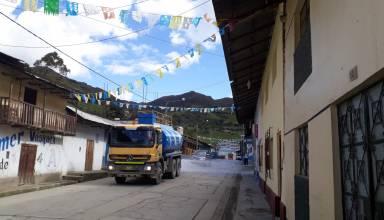 Desinfección de calles - Hualgayoc