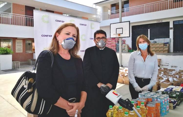 Hogar de las Bienaventuranzas recibió 10 mil kits de alimentos por parte de la CONFIEP