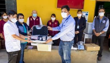 Pan American Silver realizó donativos de equipos médicos a establecimientos de salud de la provincia de Cajabamba