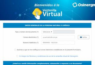 Osinergmin Ventanilla Virtual