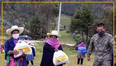 Yanacocha continúa con la entrega de canastas solidarias a poblaciones vulnerables
