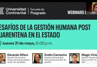 Desafíos de la Gestión Humana Post cuarentena en el Estado
