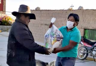 Southern entrega 1,900 canastas de víveres a pobladores de comunidades altoandinas de Candarave
