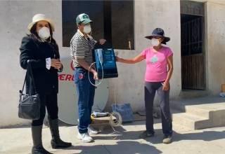 Proyecto Minero Tía María dona segundo equipo satelital al Centro Poblado de Quelgua, en Cocachacra