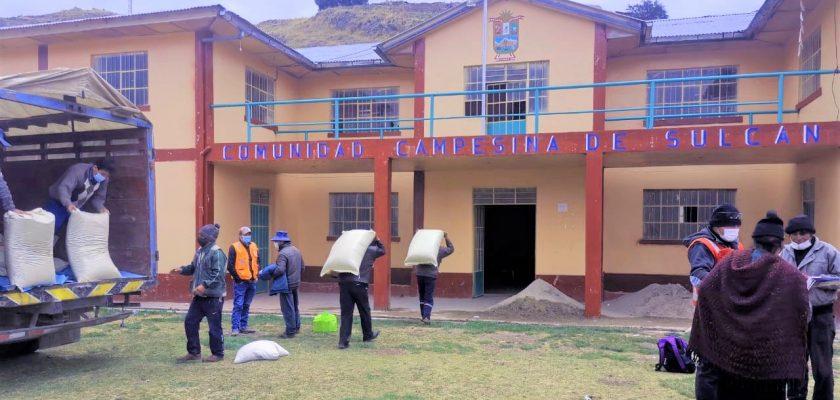 Sierra Sun Group: Sumaq Rumi entrega dos toneladas y media de alimento balanceado para animales de pequeños productores