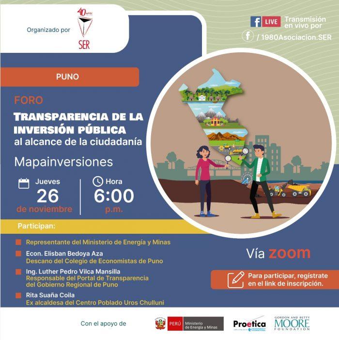 Transparencia de la inversión pública al alcance de la ciudadanía