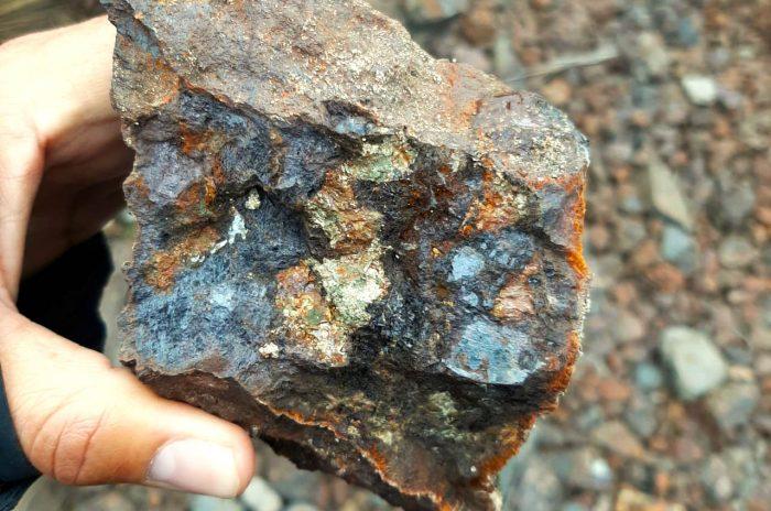 muestra mineral en Plata Dorada (Camino Corp.)