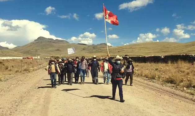 protestas en Velille, Cusco