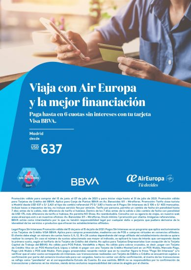 Air Europa - Visa BBVA
