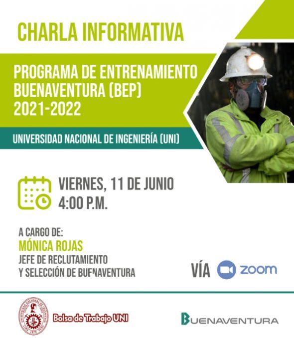 Charla Informativa: PROGRAMA DE ENTRENAMIENTO BUENAVENTURA 2021 - 2022