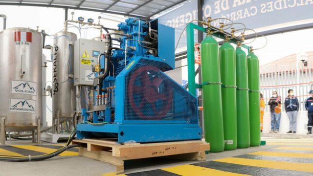 Gracias a plantas donadas por las mineras Volcan y Nexa, Pasco producirá 6 720 m3 de oxígeno