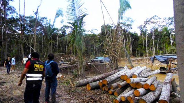 Interdicto a mineros ilegales al interior de concesión de aguaje en Laberinto