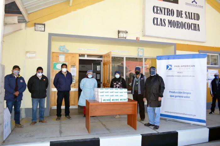 Pan American Silver entrega 1000 mil pruebas antigénicas para la detección oportuna de casos de Covid-19 en Morococha en Junín