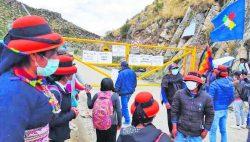 Apurímac: Comuneros realizan protesta contra empresa minera MMG Las Bambas