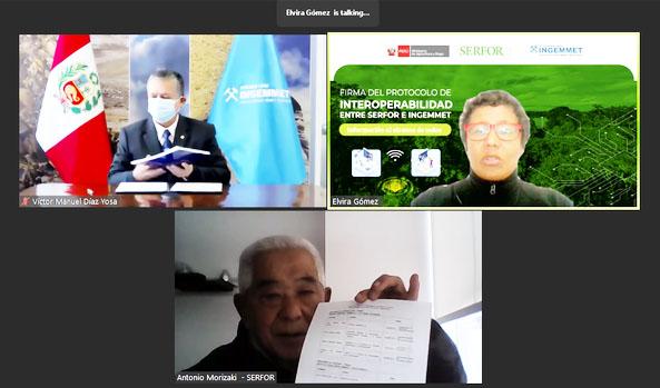 SERFOR e INGEMMET firmaron protocolo para contar con información actualizada destinada a la gestión óptima del territorio