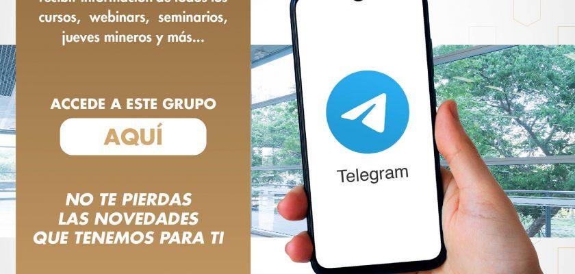 Únete al grupo de TELEGRAM del Instituto de ingenieros de Minas del Perú