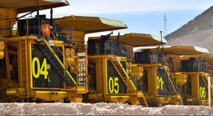 Camiones mineros de Anglo American