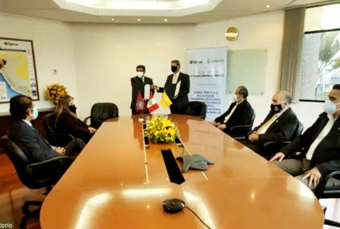 Firma Convenio Cátedra Universidad Empresa Epiroc FIGMMG UNMSM