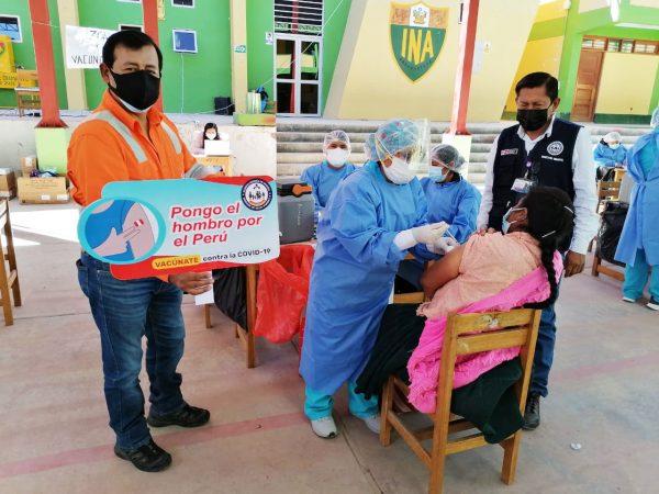 Las Bambas apoyó exitosa Gran Vacunatón contra la Covid-19 en Cotabambas, Andahuaylas y Abancay