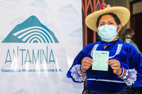 Antamina apoya vacunatón en las comunidades rurales del Valle Fortaleza, Áncash