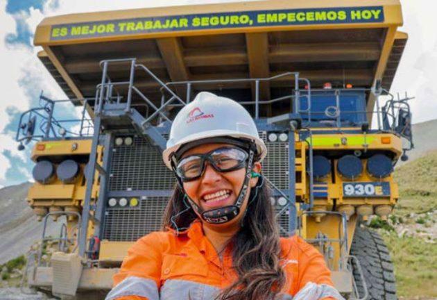 trabajadora en mina Las Bambas