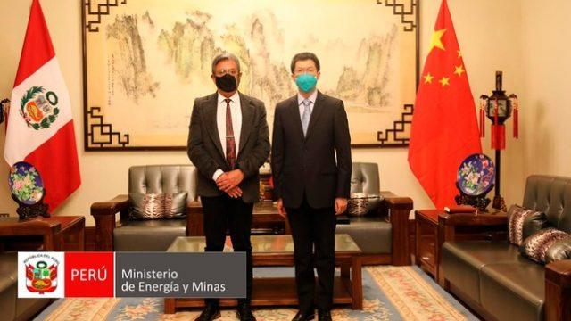 Gobierno Chino ofrece colaborar con las iniciativas propuestas por el MINEM