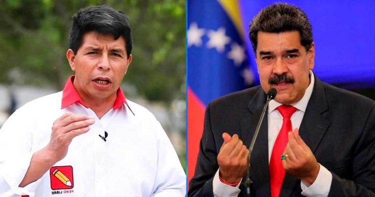 Pedro Castillo y Nicolás Maduro
