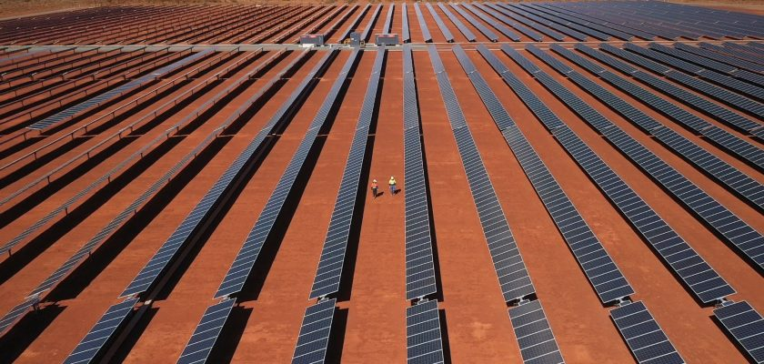 Paneles solares de Gold Fields